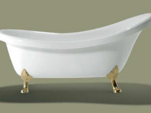 Baignoire Victorian pieds Dorees